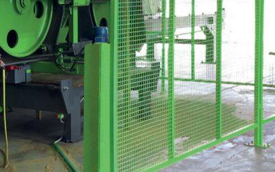 Barrière de sécurité optique, certifiée CE, pour un fonctionnement mains libres