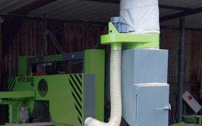 Recipiente / caixa de extração de poeiras de serragem etc.
