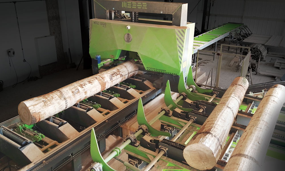 Sawing line in Germany - Sawing line for hardwoods