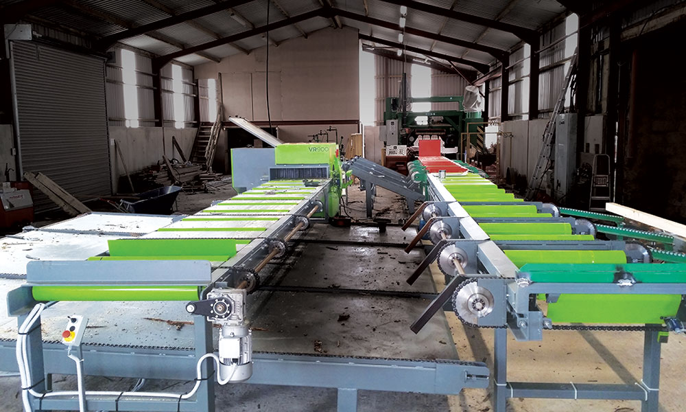 Sawing line in Northern Ireland - Sawing line for softwoods
