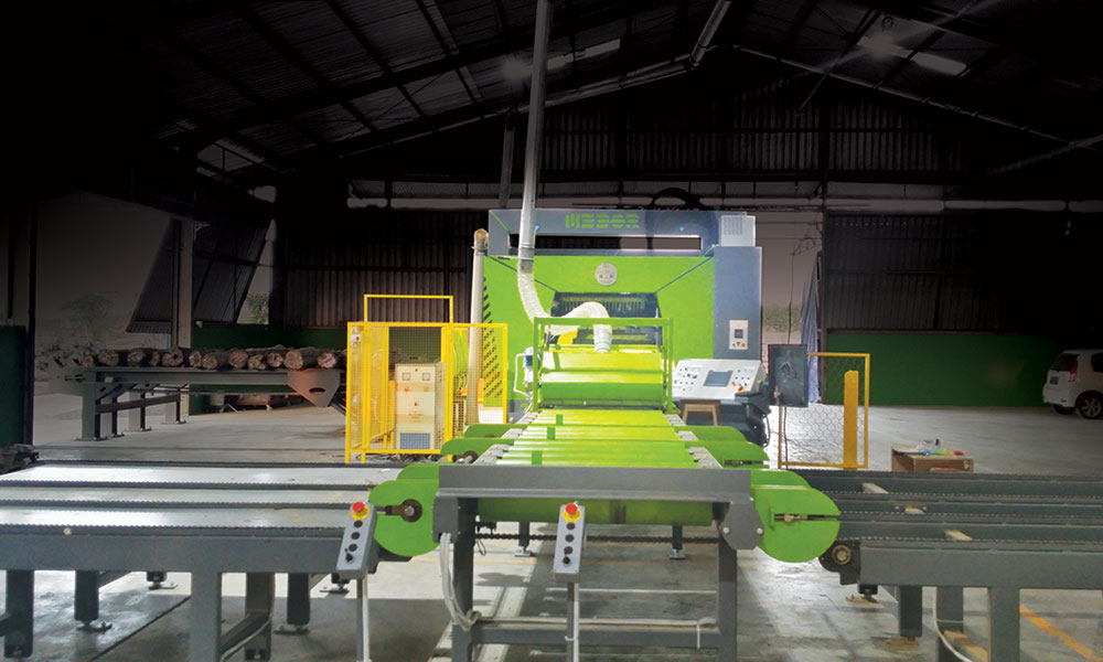 Sawing line in Indonesia - Sawing line for teak