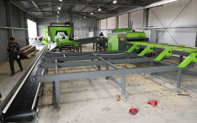 MEBOR Project report: Sawing line with horizontal band saw in Russia